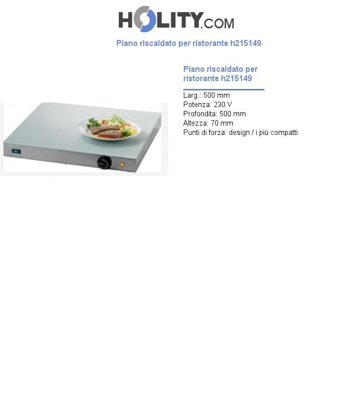 Piano riscaldato per ristorante h215149
