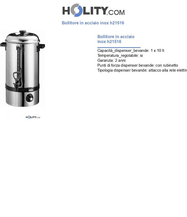 Bollitore in acciaio inox h21516