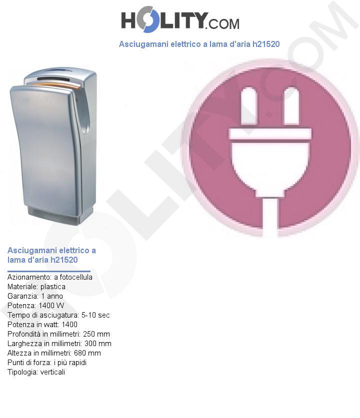 Asciugamani elettrico a lama d'aria h21520