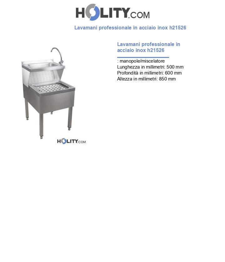 Lavamani professionale in acciaio inox h21526