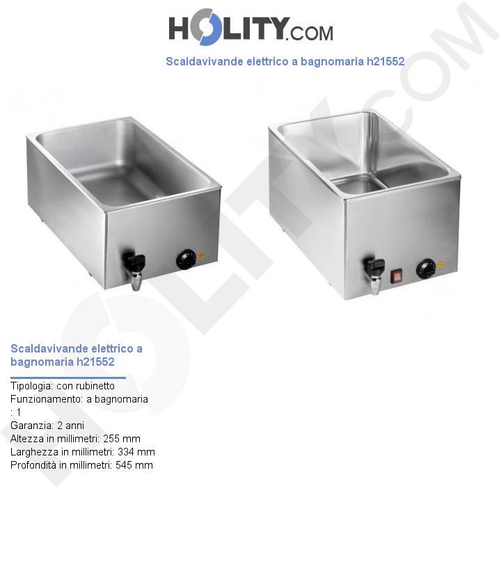 Scaldavivande elettrico a bagnomaria h21552