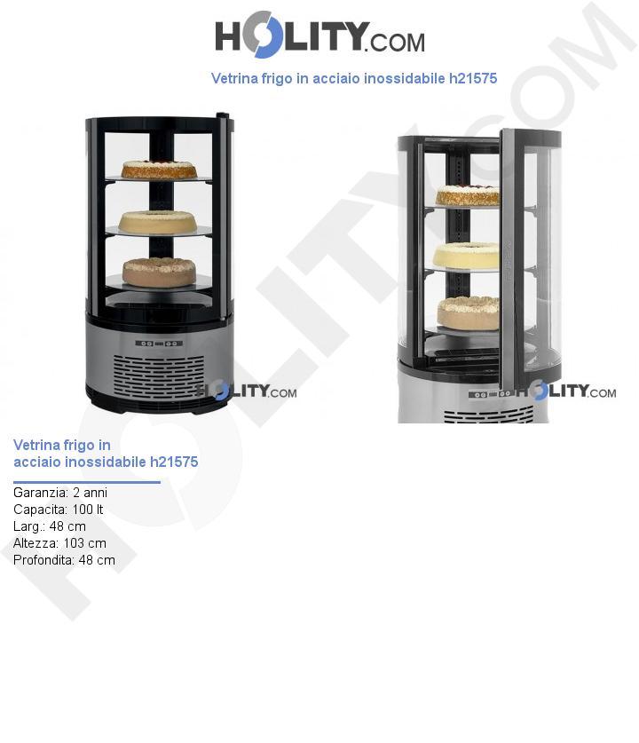 Vetrina frigo in acciaio inossidabile h21575