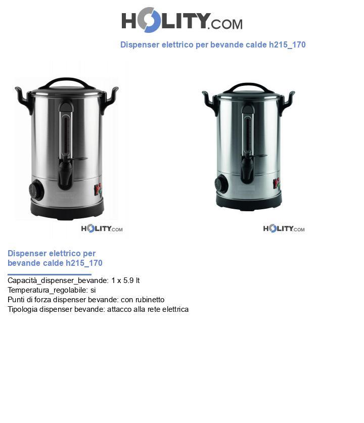 Dispenser elettrico per bevande calde h215_170