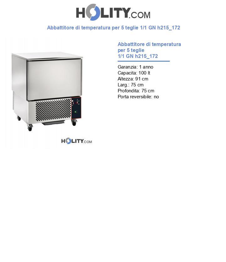 Abbattitore di temperatura per 5 teglie 1/1 GN h215_172