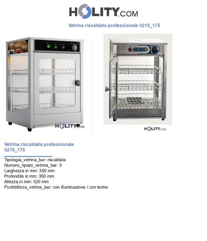 Vetrina riscaldata professionale h215_175