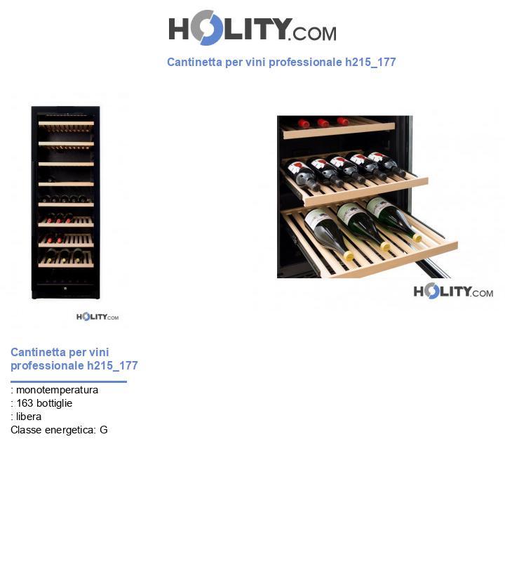 Cantinetta per vini professionale h215_177