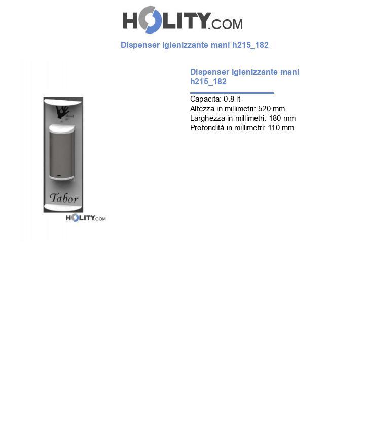Dispenser igienizzante mani h215_182
