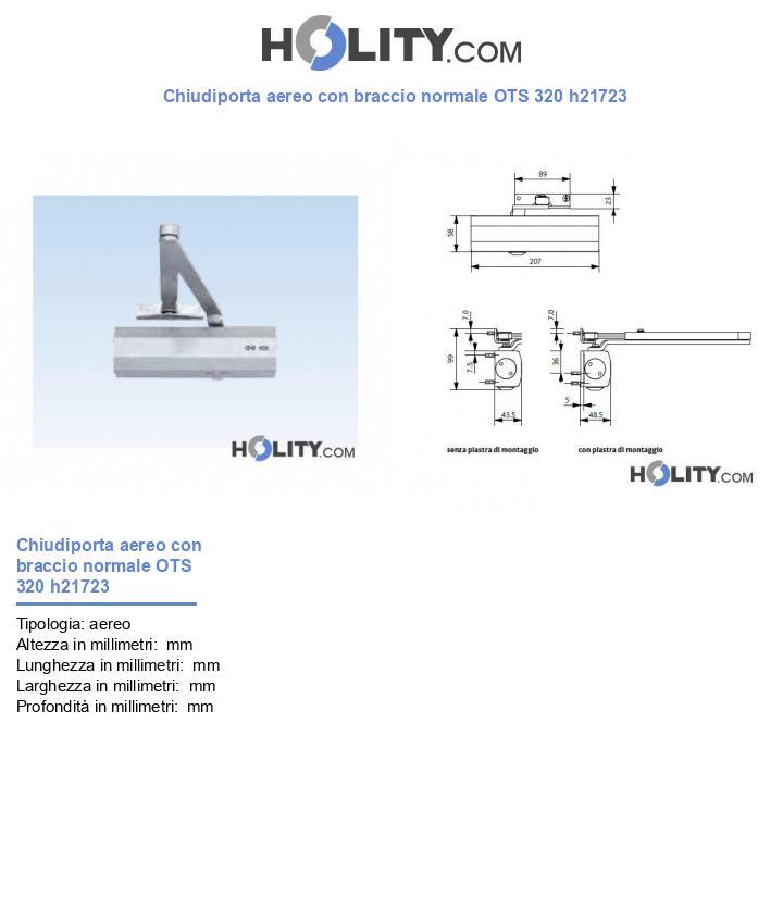 Chiudiporta aereo con braccio normale OTS 330 h21723
