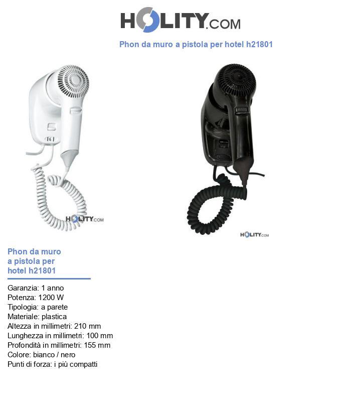 Phon da muro a pistola per hotel h21801