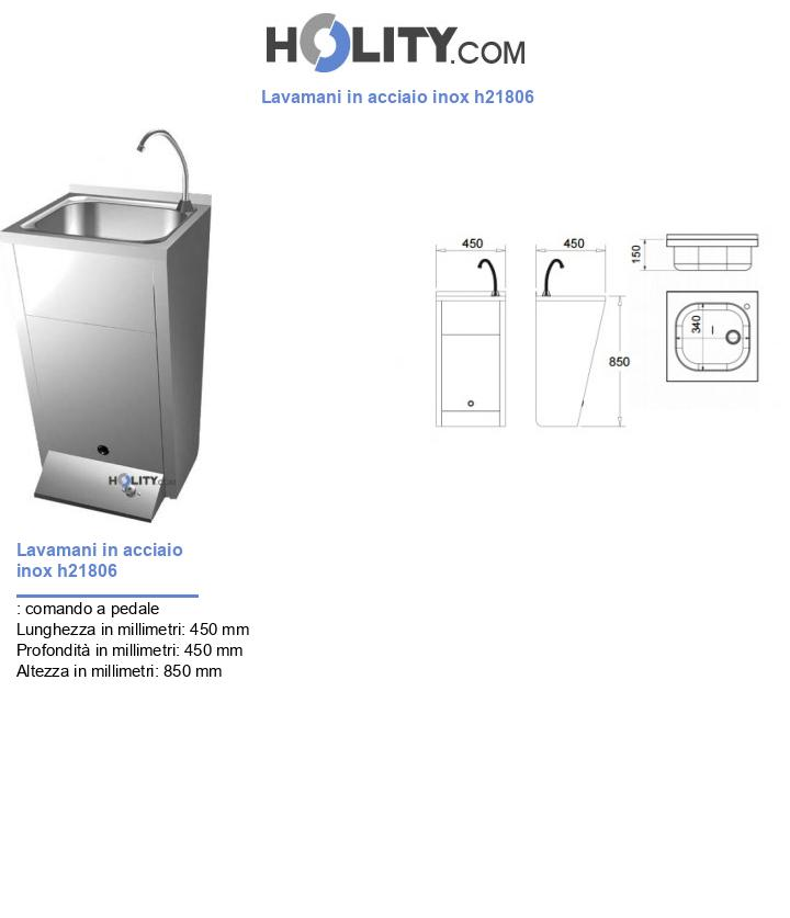 Lavamani in acciaio inox h21806