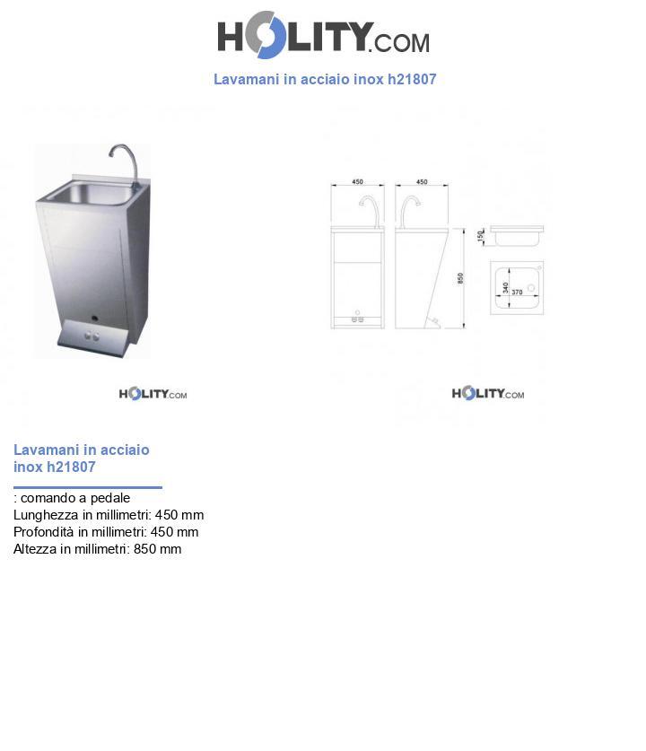 Lavamani in acciaio inox h21807