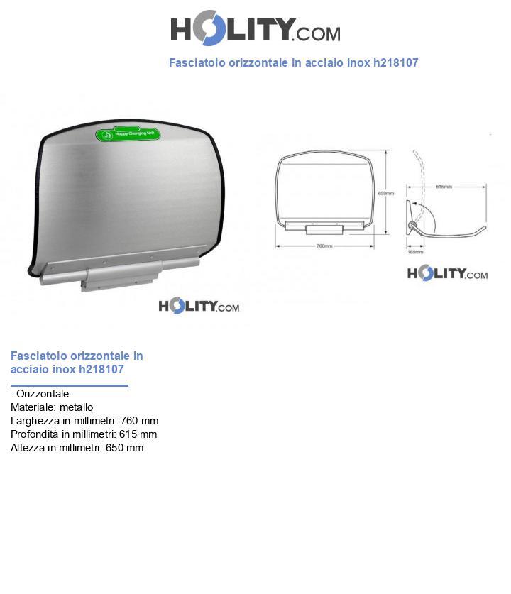 Fasciatoio orizzontale in acciaio inox h218107