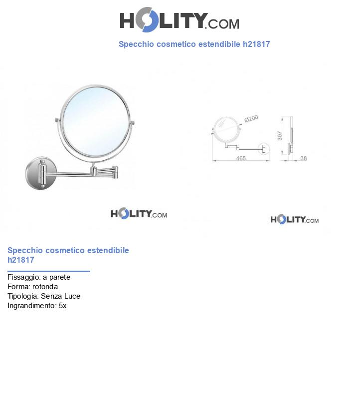Specchio cosmetico estendibile h21817