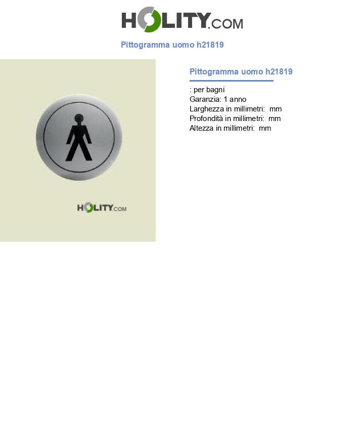 Pittogramma uomo h21819