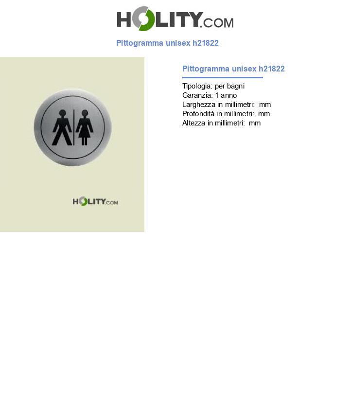 Pittogramma unisex h21822