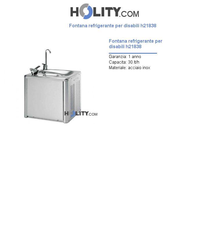 Fontana refrigerante per disabili h21838