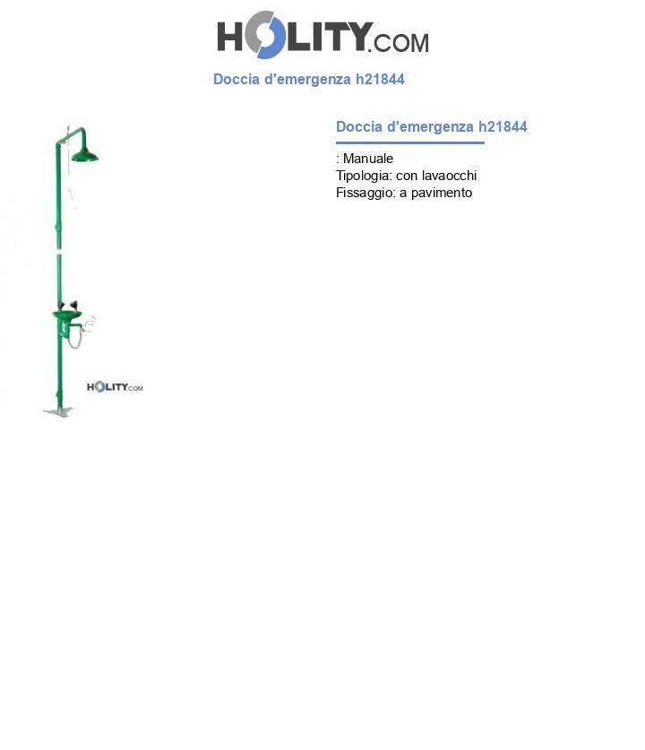 Doccia d'emergenza h21844
