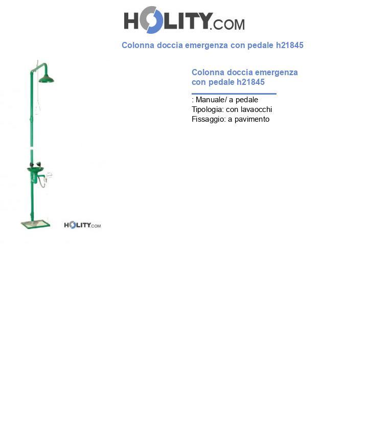 Colonna doccia d'emergenza con pedale h21845