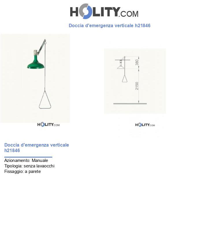 Doccia d'emergenza verticale h21846