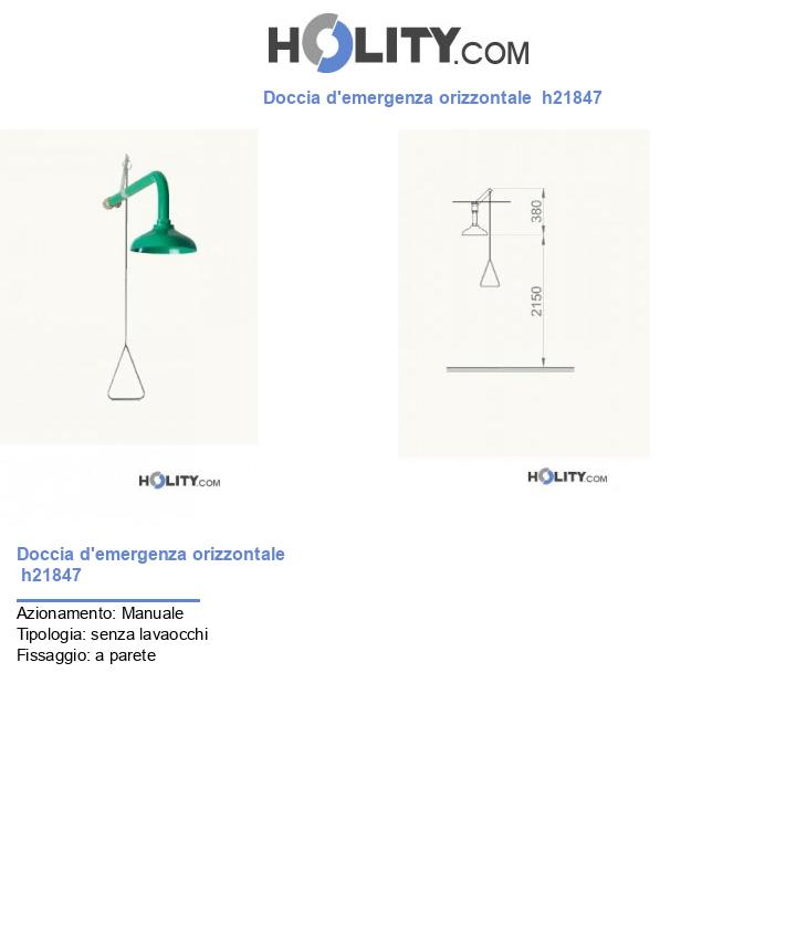 Doccia d'emergenza orizzontale  h21847