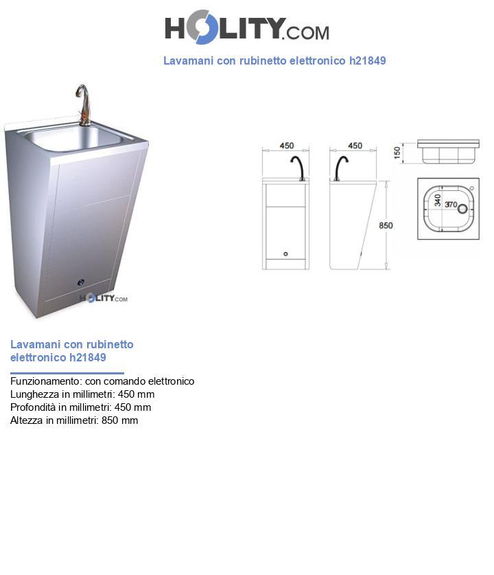 Lavamani con rubinetto elettronico h21849