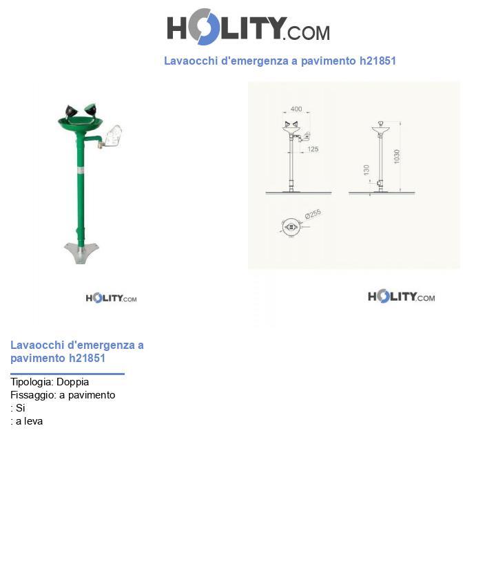 Lavaocchi d'emergenza a pavimento h21851