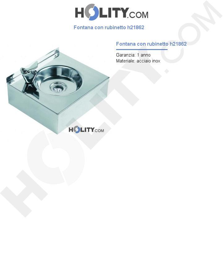 Fontana con rubinetto h21862