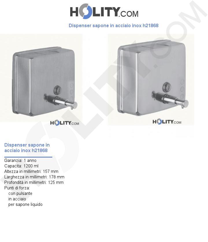 Dispenser sapone in acciaio inox h21868