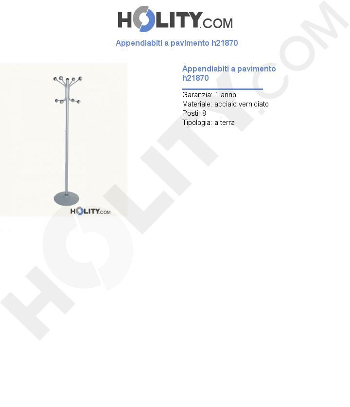 Appendiabiti a pavimento h21870