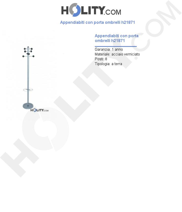 Appendiabiti con porta ombrelli h21871