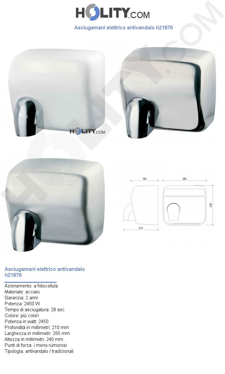 Asciugamani elettrico antivandalo h21876