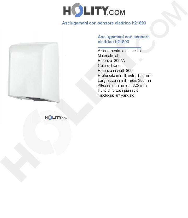 Asciugamani con sensore elettrico h21890