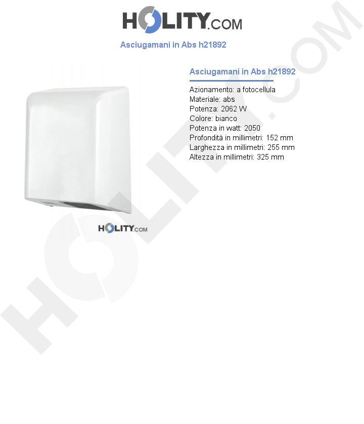 Asciugamani in Abs h21892