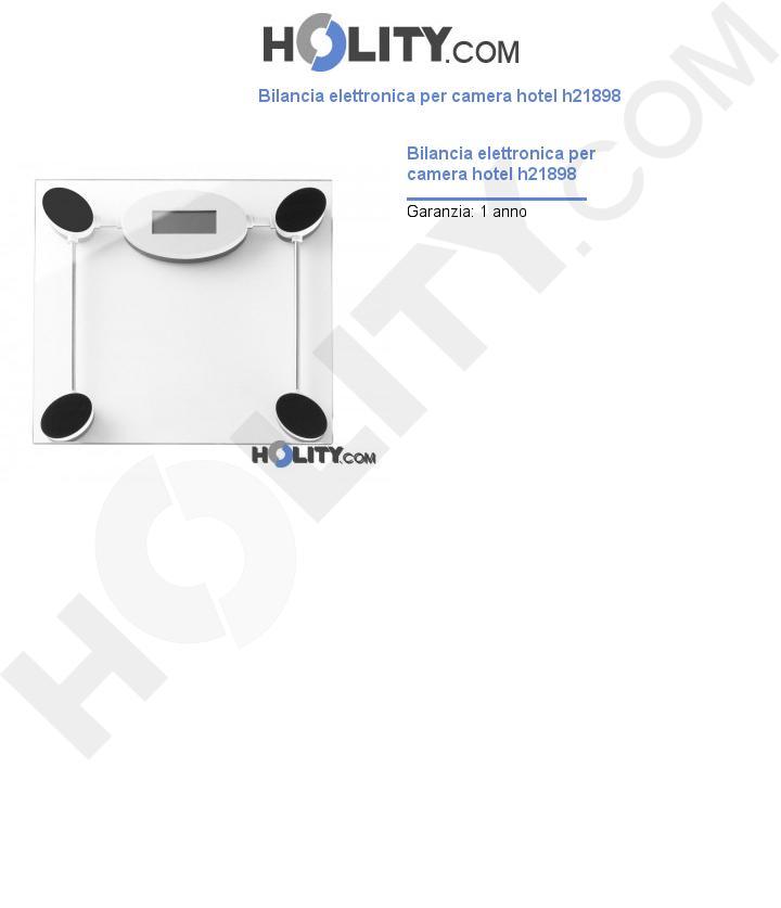 Bilancia elettronica per camera hotel h21898