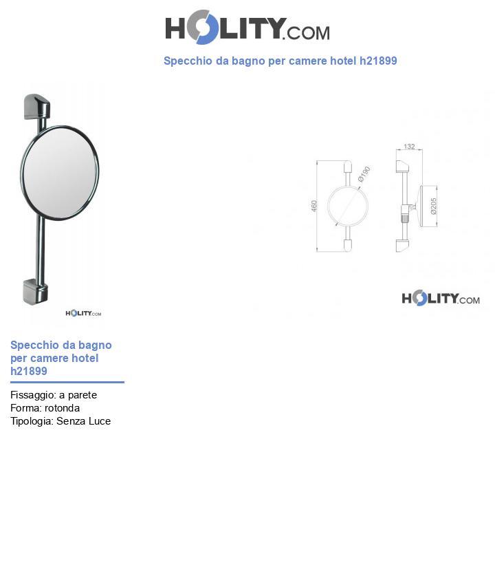 Specchio da bagno per camere hotel h21899