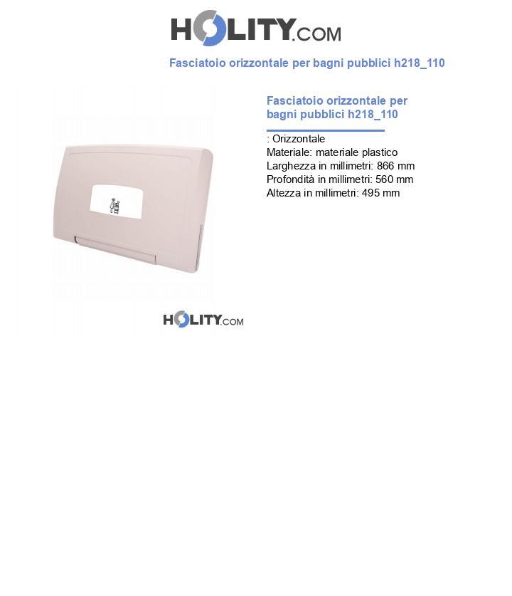 Fasciatoio orizzontale per bagni pubblici h218_110