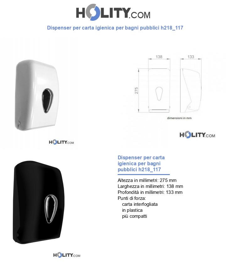 Dispenser per carta igienica per bagni pubblici h218_117