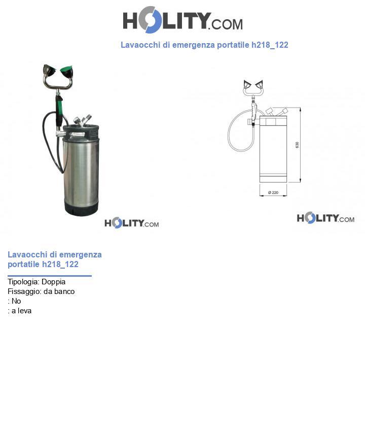 Lavaocchi di emergenza portatile h218_122