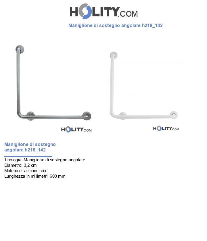 Maniglione di sostegno angolare h218_142