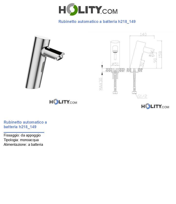 Rubinetto automatico a batteria h218_149