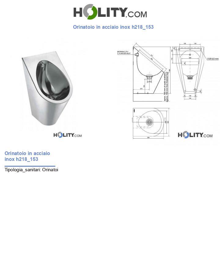 Orinatoio in acciaio inox h218_153