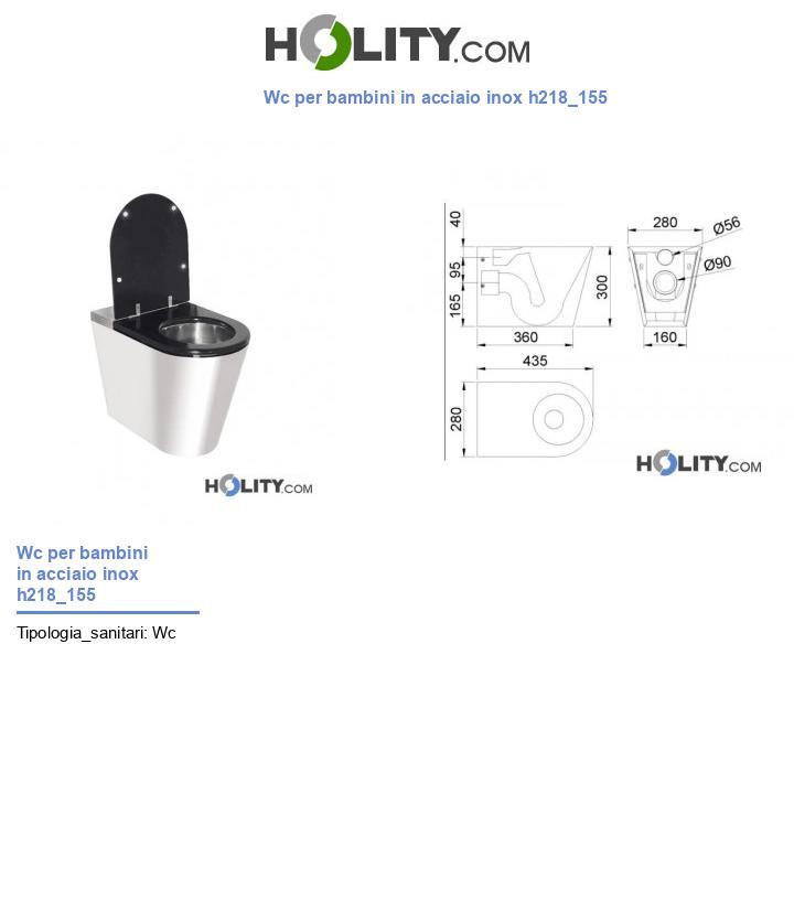 Wc per bambini in acciaio inox h218_155
