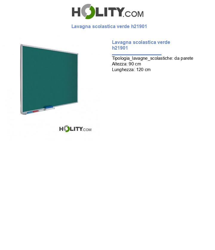 Lavagna scolastica verde h21901