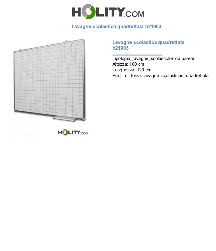 Lavagne scolastica quadrettata h21903