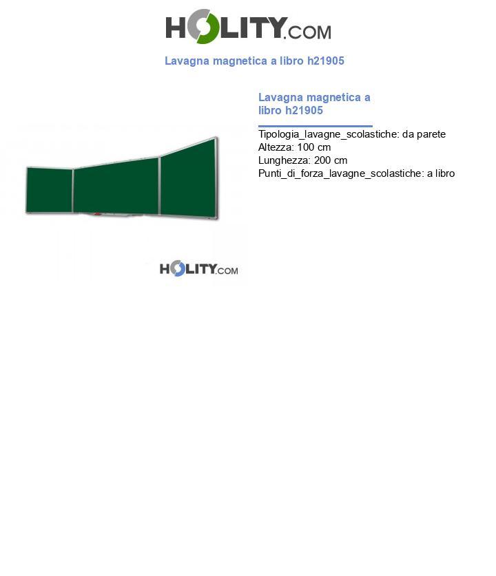 Lavagna magnetica a libro h21905