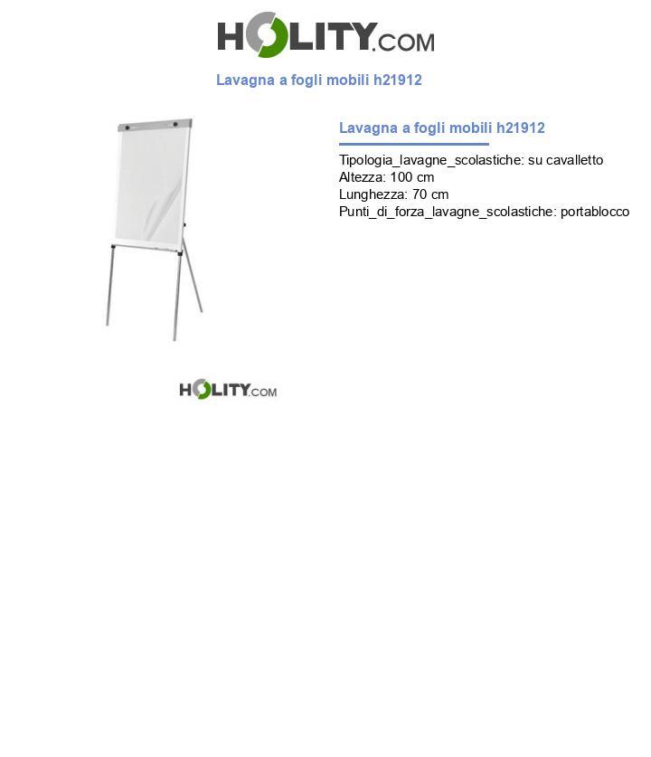 Lavagna a fogli mobili h21912