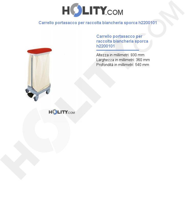 Carrello portasacco per raccolta biancheria sporca h2200101
