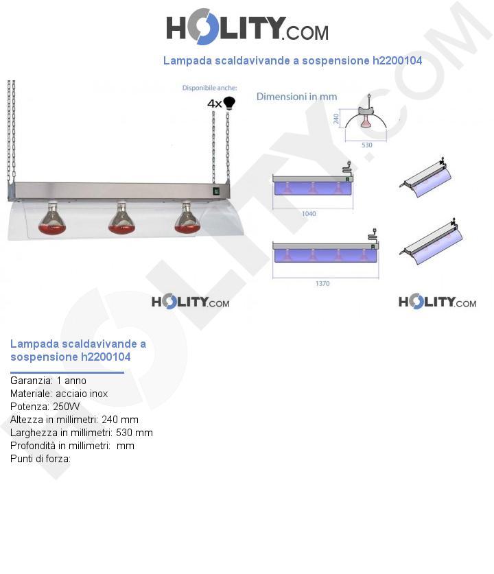 Lampada scaldavivande a sospensione h2200104