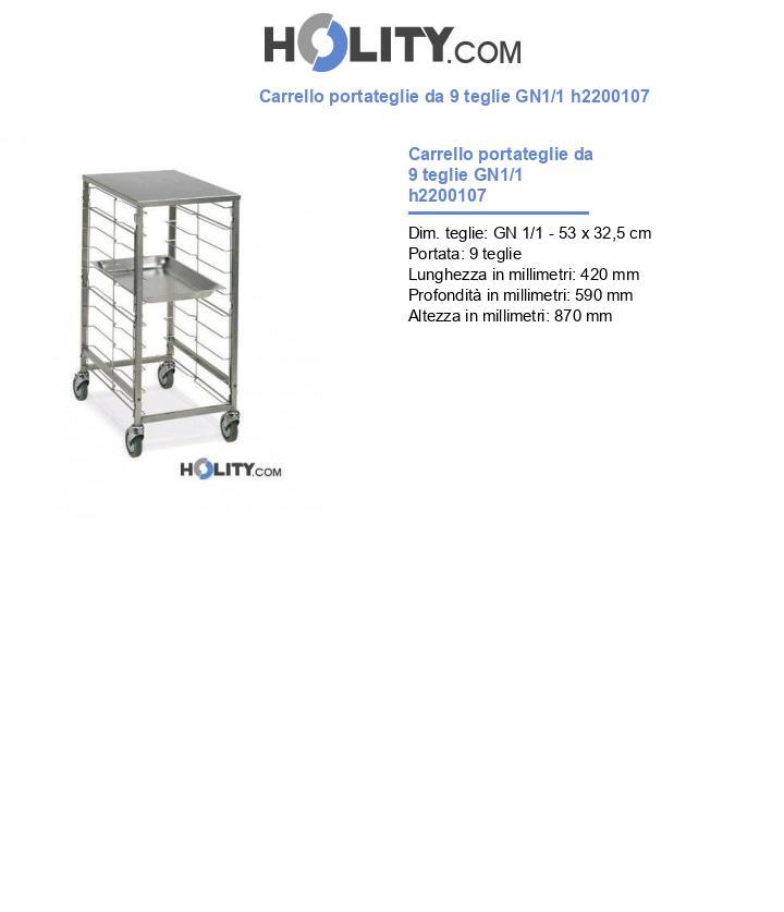 Carrello portateglie da 9 teglie GN1/1 h2200107