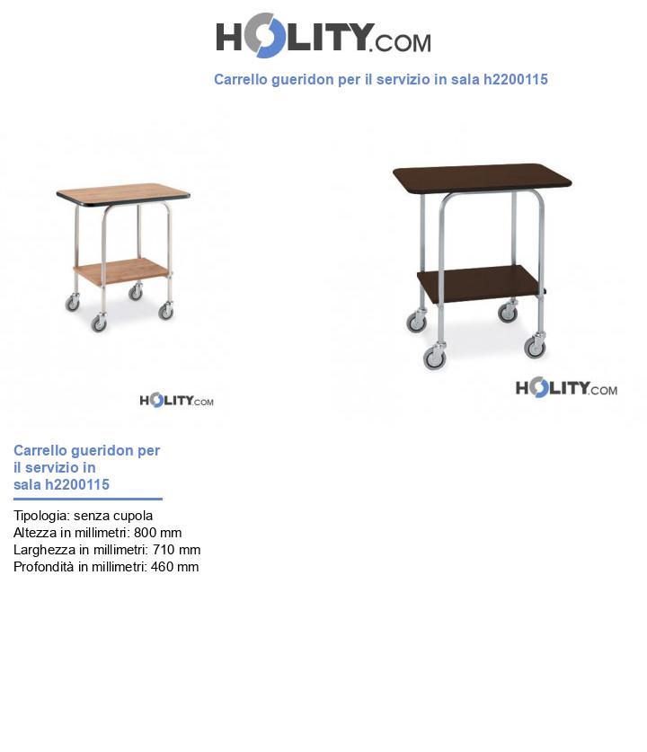 Carrello gueridon per il servizio in sala h2200115